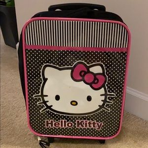 Hello Kitty carry on suitcase for little girl